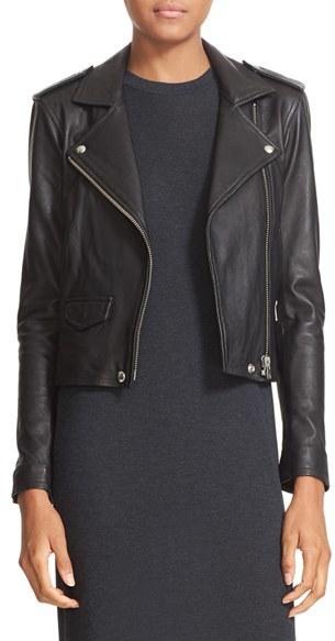 IRO Ashville Lambskin Leather Moto Jacket