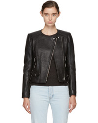 Etoile Isabel Marant Isabel Marant Etoile Black Leather Biker Jacket