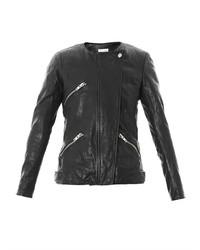 Isabel Marant Etoile Washed Leather Biker Jacket