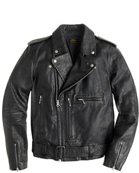 J.Crew Italian Leather Studded Motorcycle Jacket