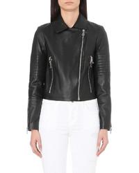 J Brand Fashion Aiah Leather Biker Jacket