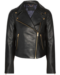 J.Crew Leather Biker Jacket Black