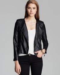 Aqua Jacket Faux Leather Moto