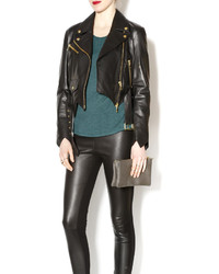 Moschino Jagged Leather Moto