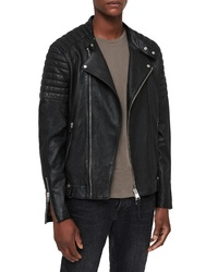 AllSaints Jasper Leather Biker Jacket