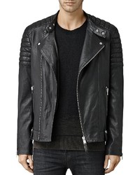 AllSaints Jasper Leather Slim Fit Biker Jacket