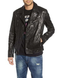 John Varvatos Star USA John Varvatos Regular Fit Lambskin Leather Biker Jacket