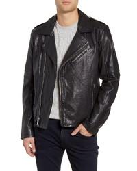 KARL LAGERFELD PARIS Karl Lagerfeld Leather Biker Jacket
