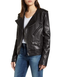 Rebecca Minkoff Katrina Textured Leather Moto Jacket