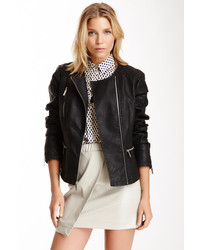 Kenneth Cole New York Faux Leather Quilted Moto Jacket