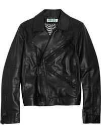Kenzo Flocked Leather Biker Jacket