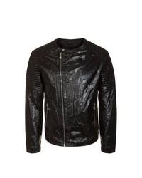 Korintage Giaco Leather Jacket Black