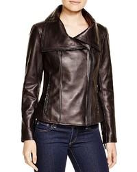 KORS Michl Leather Moto Jacket