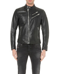 Diesel L Oyton Leather Biker Jacket