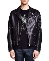 The Kooples Lambskin Leather Biker Jacket