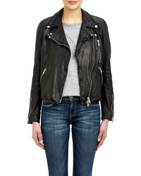 Barneys New York Lambskin Moto Jacket