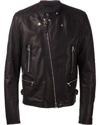 Lanvin Band Collar Biker Jacket