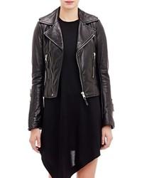 Balenciaga Leather Biker Jacket Black