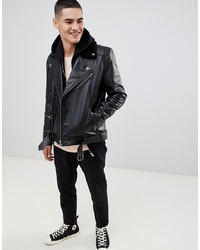 152d60bc21e59 Men's Black Leather Jackets by ASOS DESIGN | Men's Fashion ...