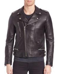 9d008f3ce5 Men's Black Leather Biker Jackets by The Kooples | Men's Fashion ...