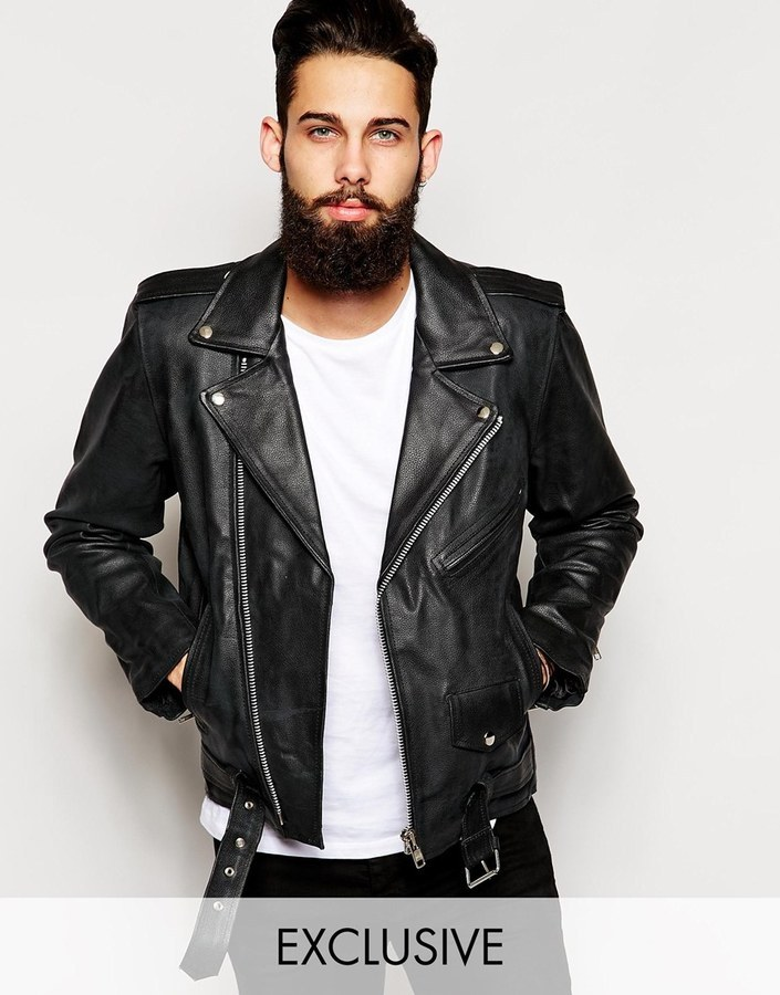 Reclaimed Vintage Leather Biker Jacket | Where to buy & how to wear