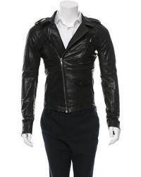 Rick Owens Leather Biker Jacket W Tags