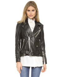 3.1 Phillip Lim Leather Biker Jacket With Insert
