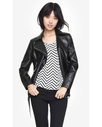Express Leather Boxy Moto Jacket