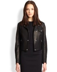 Alexander Wang Leather Classic Fit Moto Jacket