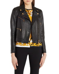 Versace Leather Moto Jacket