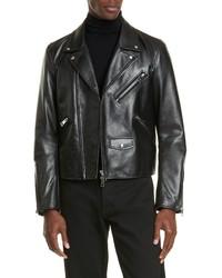 Bottega Veneta Leather Moto Jacket