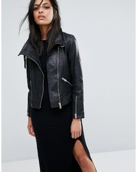 AllSaints Lewin Leather Biker Jacket