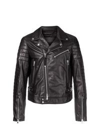 Diesel Black Gold Locheck Biker Jacket