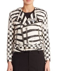 Marc Jacobs Zebra Moto Jacket