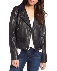 Marc new york wesley washed leather biker jacket medium 4951317