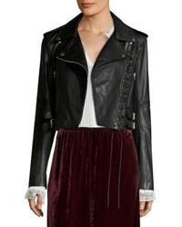 McQ by Alexander McQueen Mcq Alexander Mcqueen Lace Up Leather Moto Jacket
