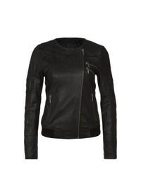 Mein Liebling Priscilla Leather Jacket Black