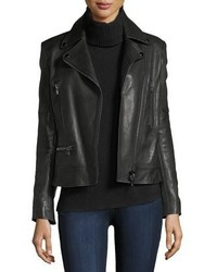 Veronica Beard Mica Leather Biker Jacket