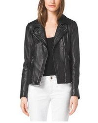 Michael Kors Michl Kors Leather Moto Jacket