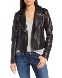 MICHAEL Michael Kors Michl Michl Kors Buckle Detail Leather Moto Jacket