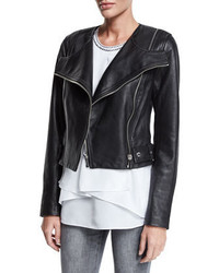 MICHAEL Michael Kors Michl Michl Kors Leather Moto Jacket Black