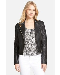 MICHAEL Michael Kors Michl Michl Kors Quilted Panel Leather Moto Jacket