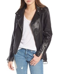 Mackage Miela N Belted Leather Moto Jacket