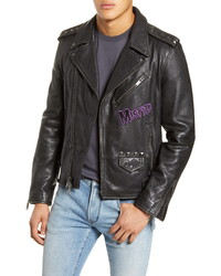 John Varvatos Star USA Misfits Leather Biker Jacket