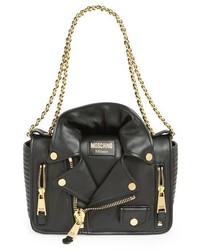 Moschino Biker Jacket Shoulder Bag Black