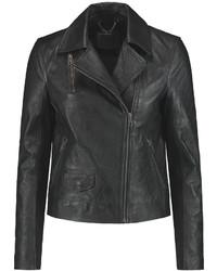 Muu Baa Muubaa Crinkled Leather Biker Jacket