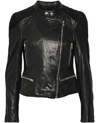 Muu Baa Muubaa Yarra Nubuck Trimmed Leather Biker Jacket