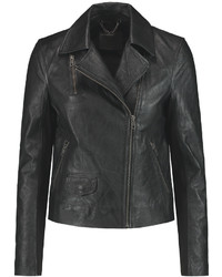 Muu Baa Muubaa Crinkled Leather Biker Jacket