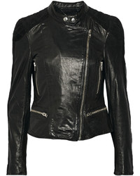 Muu Baa Muubaa Yarra Nubuck Trimmed Leather Biker Jacket