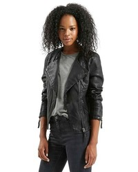 Topshop Nelly Faux Leather Biker Jacket